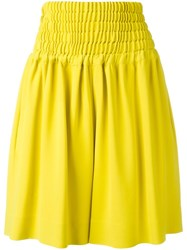 Rochas Wide Leg Shorts Yellow Orange