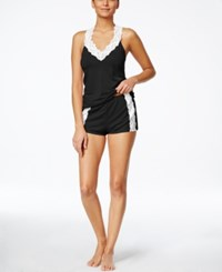 Flora By Flora Nikrooz Clara Knit Camisole And Short Set Black