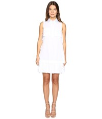 Dsquared Open Sides Military Chemisier Dress White