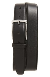 Monte Rosso Men's Big And Tall Nappa Leather Belt Black