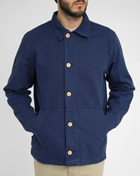 Armor Lux Navy Buttoned Fisherman Jacket