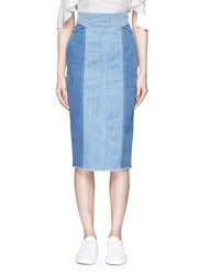 Nicholas Stitch Waist Denim Skirt Blue