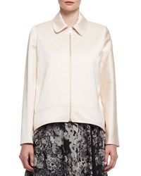 Satin Zip Front Swing Jacket Powder Poudre
