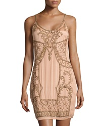 Yoana Baraschi Goddess Armor Shift Dress French Rose Gold