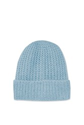 Topshop Girly Turn Up Beanie Hat Light Blue