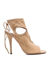 Aquazzura Sexy Thing Suede Sandals In Neutrals