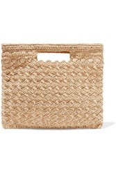 Carrie Forbes Lucy Woven Faux Raffia Tote Neutral