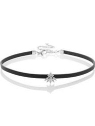 Cz By Kenneth Jay Lane Cubic Zirconia Princess And Marquise Fringe Choker Black