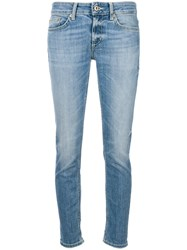 Dondup Low Rise Skinny Jeans Blue