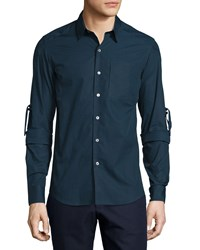 Opening Ceremony Range Whip Woven Dress Shirt Midnight Navy