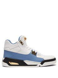 Versace High Top Leather Trainers White