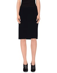Alberto Biani Skirts Knee Length Skirts Women Dark Blue