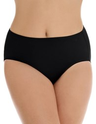 Longitude Solid High Waist Bikini Black