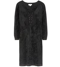 Velvet Raleigh Faux Suede Dress Black