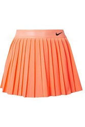 Nike Court Victory Pleated Neon Dri Fit Stretch Skirt Coral