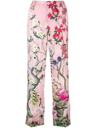 F.R.S For Restless Sleepers Floral Pyjama Trousers Pink And Purple