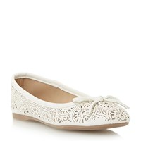 Head Over Heels Hallow Laser Cut Ballerina White