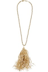 Rosantica Pop Gold Tone Tinsel Necklace One Size