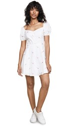 Re Named Frill Embroidered Dress White Rose