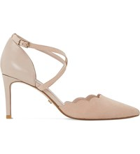 Dune Cerys Scalloped Edge Suede Courts Blush Suede