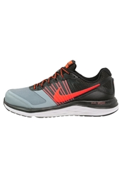Nike Performance Dual Fusion X Cushioned Running Shoes Black Bright Crimson Dove Grey White