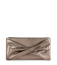 Reiss Beau Metallic Metallic Clutch In Yellow Womens