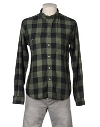 Monica Bianco Shirts Long Sleeve Shirts Men Green