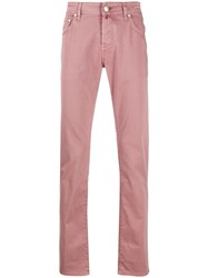 Jacob Cohen Slim Fit Trousers Pink
