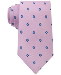 Club Room Men's Neat Floral Print Classic Tie Only At Macy's Pink
