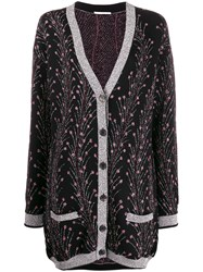 Marco De Vincenzo Metallic Thread Knit Cardigan 60
