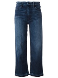 Mother Cropped Jeans Blue