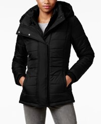 Rampage Hooded Quilted Puffer Coat Only At Macy's Black