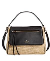 Kate Spade New York Cobble Hill Straw Small Toddy Crossbody Natural Black