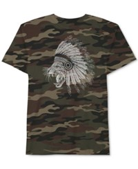 Jem Men's Graphic Print T Shirt Camouflage