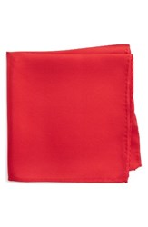 Nordstrom Men's Solid Silk Pocket Square Red