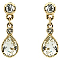 Cachet London Plated Swarovsky Crystal Pear Stone Drop Earrings