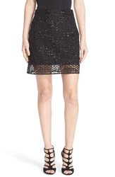 Milly Women's Geo Sequin Miniskirt
