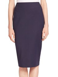 Victoria Beckham Pinstripe Pencil Skirt Navy