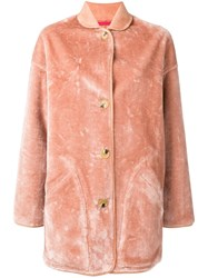 Paul Smith Ps By Reversible Oversized Coat Pink And Purple