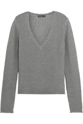 James Perse Cotton Cashmere And Wool Blend Sweater Gray