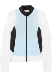 Monreal London Color Block Stretch Jacket Sky Blue Gbp