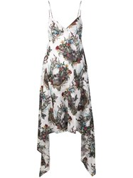 John Richmond Skull Print Dress White