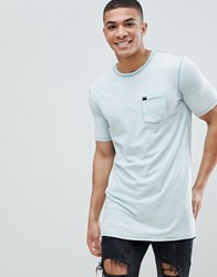 Superdry Longline T Shirt In Washed Blue
