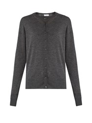Raey Slim Fit Cashmere Cardigan Charcoal