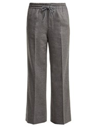 Undercover Straight Leg Cashmere Trousers Light Grey