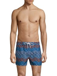 2Xist Wavy Fish Swim Shorts Baltic Sea
