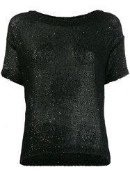 Snobby Sheep Sequin Knit Top Black