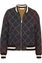 Etoile Isabel Marant Dabney Reversible Printed Cotton Bomber Jacket Black