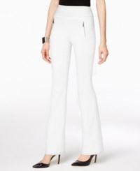 Inc International Concepts Petite Zip Pocket Wide Leg Pants Only At Macy's Washed White