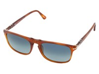 Persol Po3059s Land Of Siena Polarized Gradient Blue Plastic Frame Fashion Sunglasses Red